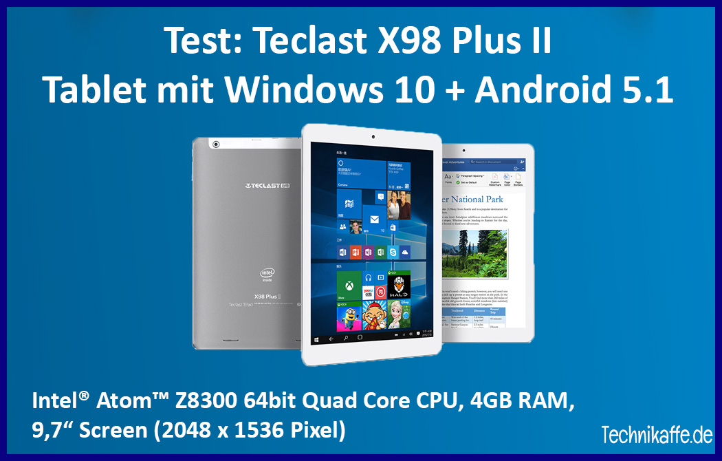 review teclast x98 plus ii tablet mit windows 10 und. Black Bedroom Furniture Sets. Home Design Ideas