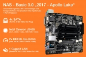 NAS Basic 3.0 mit Apollo Lake