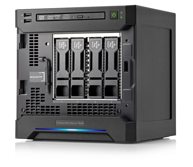 hp microserver gen 8 im test 4 bay nas im g nstigen. Black Bedroom Furniture Sets. Home Design Ideas