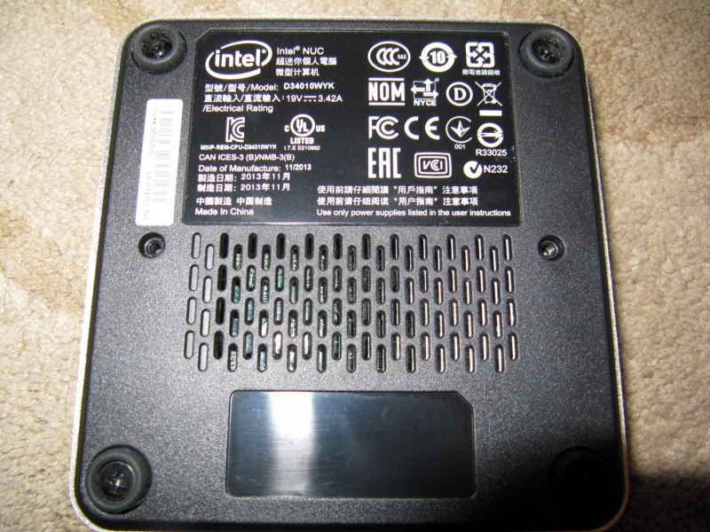 Intel NUC I3 D34010WYK Test / Review