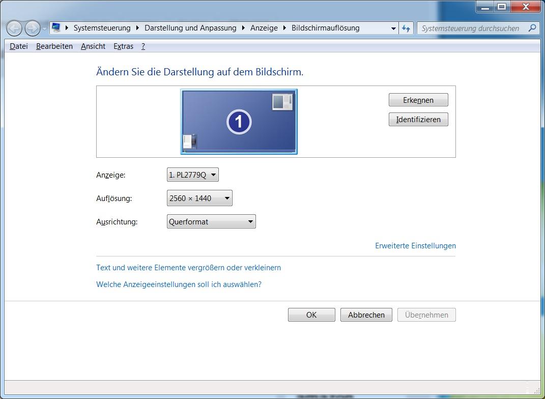 Intel HD Grafik und WQHD-Auflösung (2560x1440) über DVI und HDMI