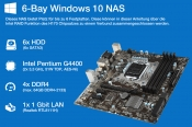6-Bay NAS mit Windows 10 und Intel RAID