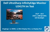 Dell UltraSharp InfinityEdge Monitor (24 Zoll) - U2417H im Test