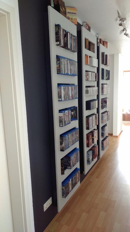 selbstbau eines regals f r blu rays oder dvds. Black Bedroom Furniture Sets. Home Design Ideas