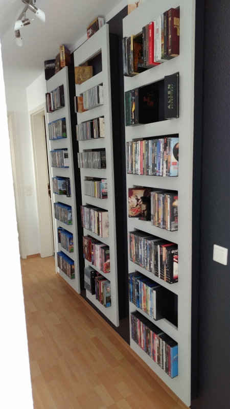 selbstbau eines regals f r blu rays oder dvds. Black Bedroom Furniture Sets. Home Design Ideas