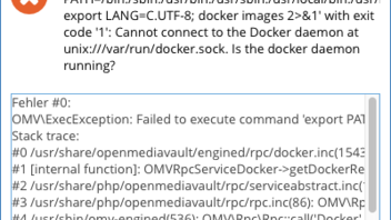 Cannot connect to the Docker daemon - OpenMediaVault