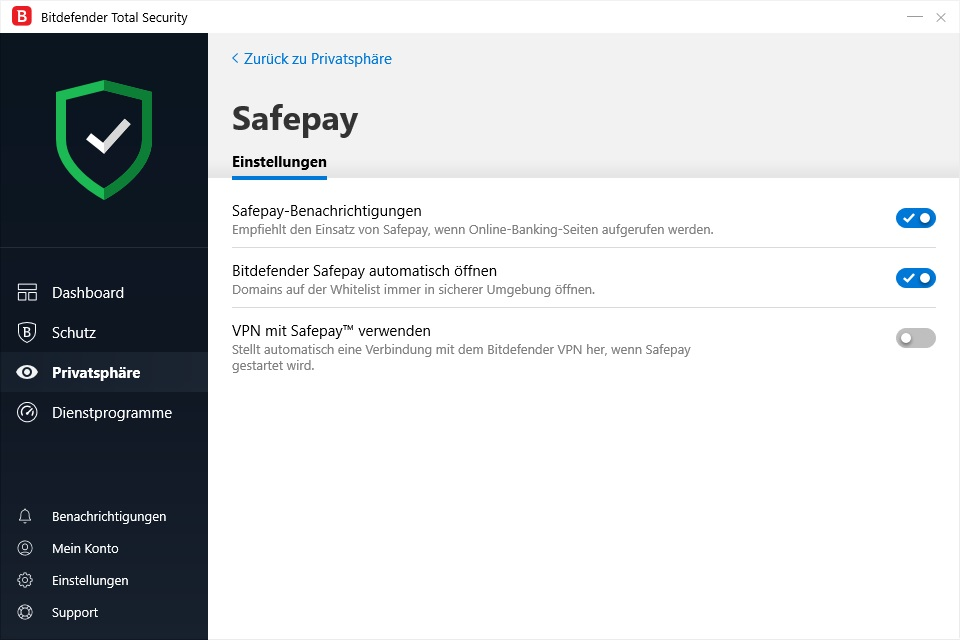 Bitdefender Premium Security SafePay