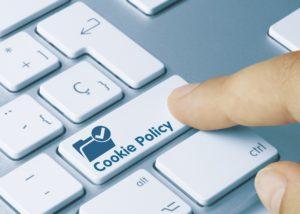 cookie-richtlinien als taste auf der tastatur