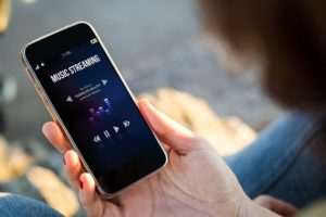 musik-streaming am smartphone