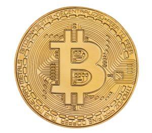 eine bitcoin-muenze