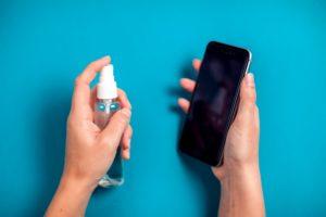desinfektion eines handys