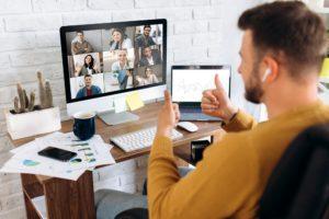 leitung einer video-konferenz